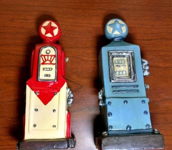 Picture of Two Miniature Polystone Gas Pumps