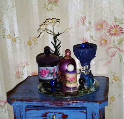 Picture of Vanity items in blue
