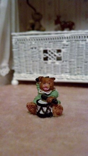"Picture of Tiny ceramic bear 11/16"""