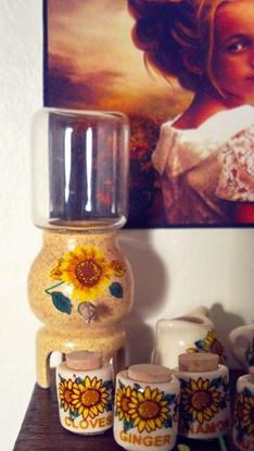 Picture of Sunflower Water Keg Dollhouse Miniature