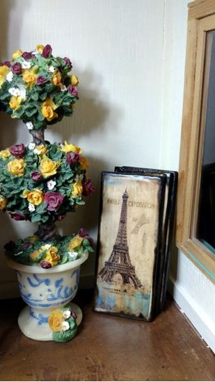 Picture of Sign Dollhouse Miniature Eiffel Tower Paris Expo