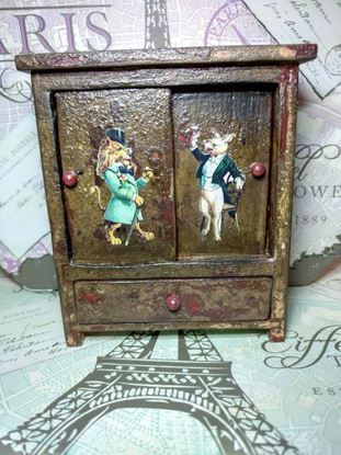 Picture of Rustic Dollhouse Cabinet