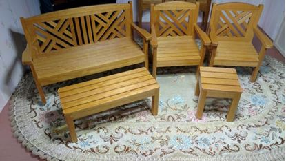 Picture of Outdoors Garden Set Miniature Furniture