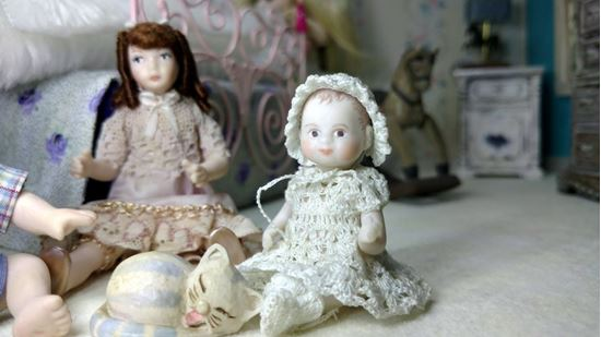 Picture of Miniature Porcelain Little Girl Doll