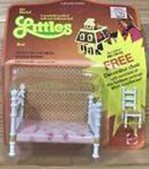Picture of Vintage Mattel The Littles Half scale Bed and bonus Chair. Sealed.