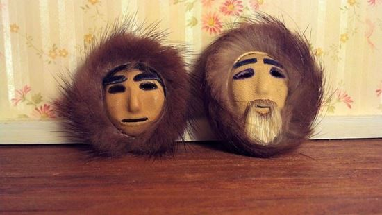 Picture of Leather & Fur Miniature Eskimo Masks