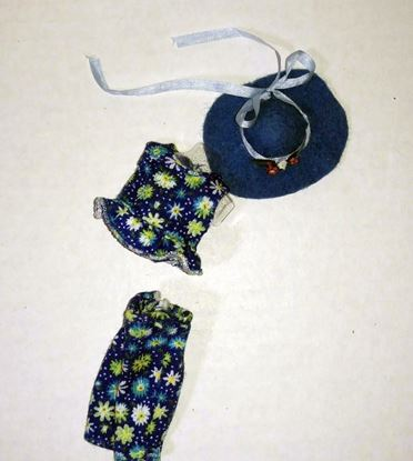 Picture of Miniature Swimsuit for Dollhouse Doll