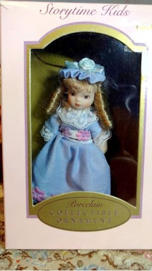 Picture of Miniature Porcelain Doll Little GoldY