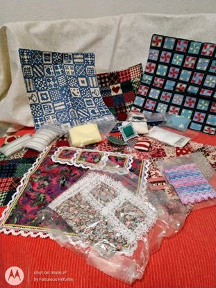 Picture of Dollhouse Miniatures Lot Quilts etc