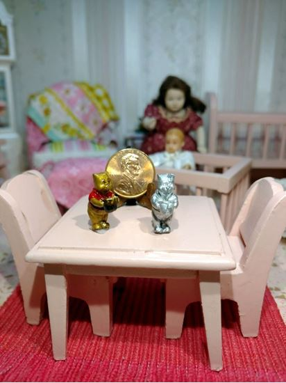 Picture of Miniature Metal Pooh Standing Raw