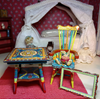 Picture of Hand painted dollhouse table.