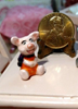Picture of Miniature Metal Piglet- Painted