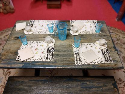 Picture of Dollhouse Picnic Table and Benches