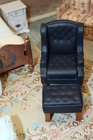Picture of Dollhouse Chair and Ottoman