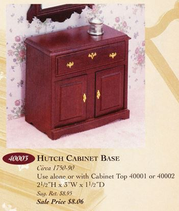 Picture of The House of Miniatures #40003 Hutch Base Cabinet Kit