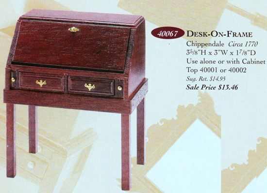 Picture of The House Of Miniatures #40067 Chippendale Desk Kit