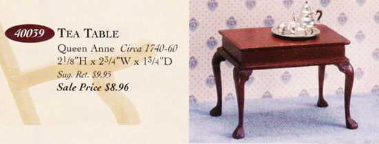 Picture of The House of Miniatures Queen Anne Tea Table Kit #40039