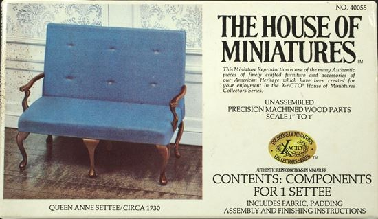 Picture of The House of Miniatures Queen Anne Settee Kit # 40055