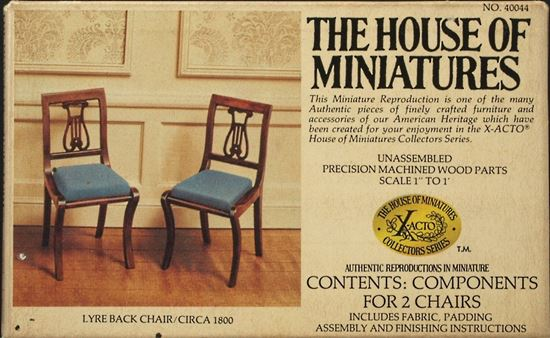 Picture of The House of Miniatures #40044 Lyre Back Chair Kit