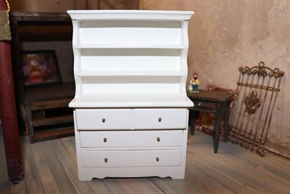 Picture of Dollhouse White Hutch Dresser