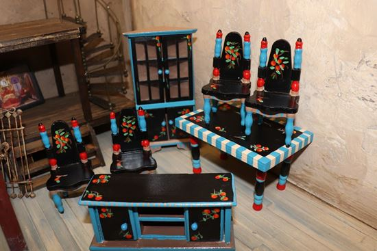 Picture of Dollhouse Eye Candy Dining Room Set by First Glance