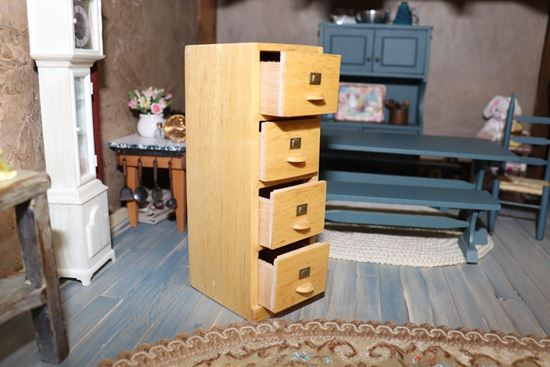 Picture of Dollhouse Filing Cabinet