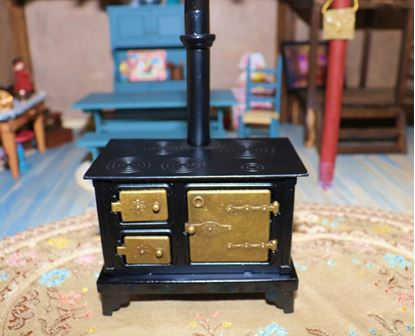 Picture of Dollhouse Metal Cook Stove